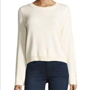 Ramy Brook Misha Shredded-Trim Sweater